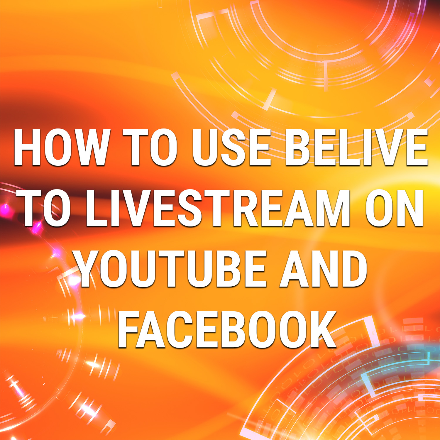 Read more about the article How To Use BeLive To Livestream To Youtube and Facebook